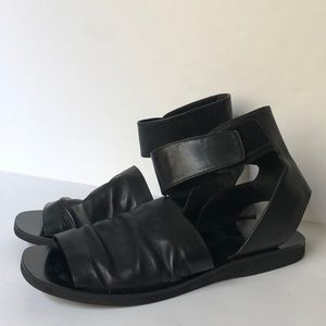 Vince Leather Sandals with Ankle Strap